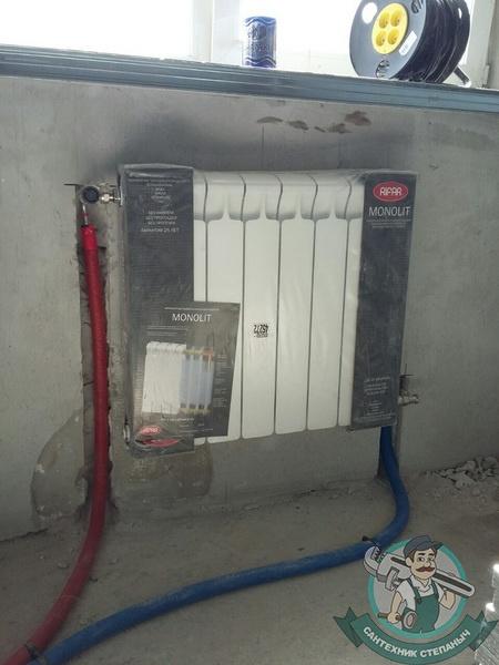 Монтаж радиатора отопления в системе отопления дома